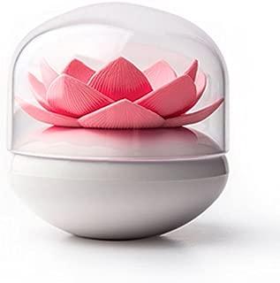 Ocamo Lotus Cotton Ball/Swab Holder, Small Q-tips Toothpicks Organizer, Cosmetic Storage for Bathroom Vanity, 3 Colors White