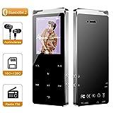 Macrout Reproductor de MP3, Reproductor de Música 16GB Soporta hasta 128GB Bluetooth 4.2 Portátil Grabación Radio FM Deportivo Altavoz Incorporado TF Tarjeta