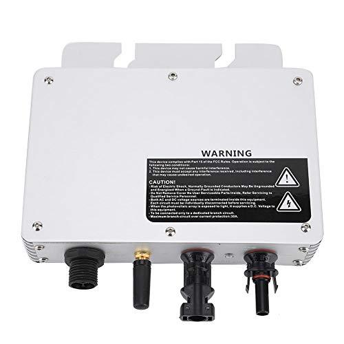 Hongzer Energía Solar, IP65 Impermeable 300W Micro inversor convertidor Solar con Amplio Voltaje 80-160VAC / 180-280VAC Inversor de conexión a Red MPPT de Alta eficiencia