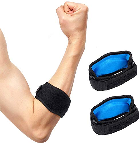 Tennis Elbow Support Strap, Golfers Elbow Brace with Compression Pad for Men & Women; Counterforce Tendonitis Elbow Strap for Tennis & Golfer's Elbow...