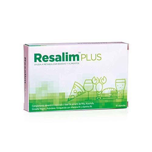 Resalim PLUS - Reduce y Previene los Síntomas de la Resaca, Complemento Alimenticio para Ayudar a Metabolizar Bebidas y Alimentos - 10 Comprimidos