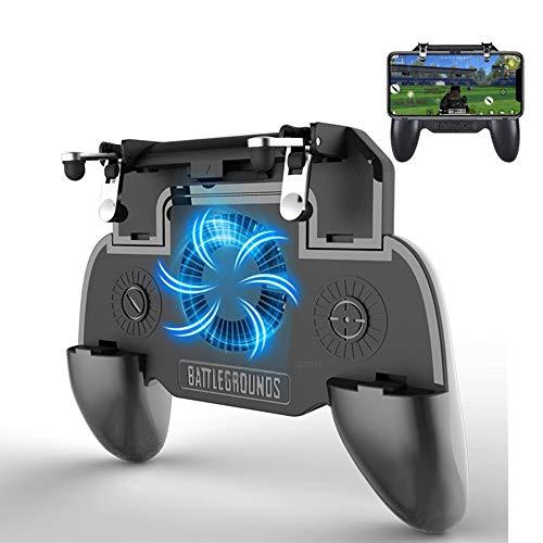 PUBG Game-controller, draadloze bluetooth, mobiele gamepad, compatibel met Android/wordt iOS geleverd met batterij en ventilator