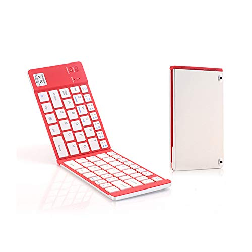 Faltbare Bluetooth-Tastatur Slim Mini Portable Aluminium für Microsoft für iPad, iPhone, Android-Geräte und Windows-Tablets,1