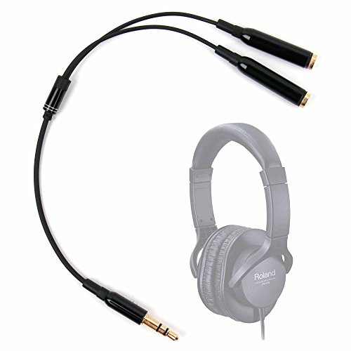 DURAGADGET Práctico Divisor De Auriculares para Auriculares HAMSWAN N9-EU/Pioneer SE-M521 / Roland RH-5 (408360099) - Entrada De 3.5mm