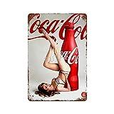 Coca Cola Sexy Medias 3 Vintage Tin Sign Art Iron Painting Rusty Poster Decoración Placa de Aluminio Interesante Personalidad Banda película para Hotel Cafe 30cm*40cm