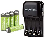 AmazonBasics AA High-Capacity Rechargeable Batteries (8-Pack) and Ni-MH AA & AAA Battery Charger With USB Port Set