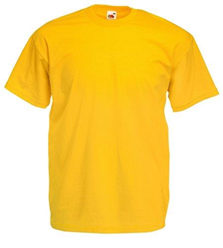 Fruit of the Loom T-Shirt S-XXXL in verschiedenen Farben M,sonnenblumengelb M,Sonnenblumengelb