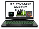 2021 Newest HP Pavilion 15.6' FHD Gaming Laptop, AMD 3rd Gen 6-Core Ryzen 5 4600H(Up to 4.0Ghz), NVIDIA GeForce GTX 1650, 32GB RAM, 1TB SSD, B&O Audio, Backlit Keyboard, HDMI, Windows 10+AllyFlex MP