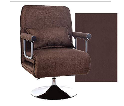 Enkele computer stoel, Reclining Swivel Chair Lift baas stoel Lazy Sofa lederen vrije tijd bureaustoel Retro size 5