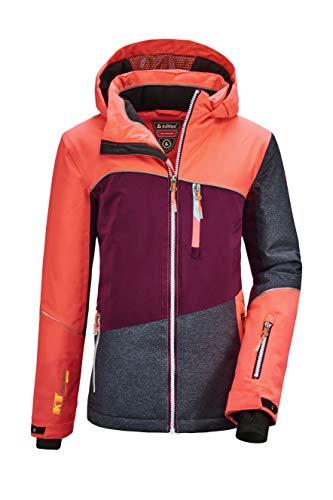 Killtec Mädchen Glenshee GRLS Ski Jckt D Funktionsjacke Mit Kapuze Und Schneefang, neon-Coral, 152