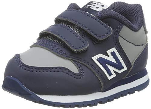 New Balance KV500VBI - Zapatillas de Deporte Unisex Niño, Gris/Azul Oscuro, 21 EU