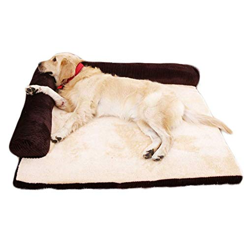 ZHAS Orthopedic Pet Sofa Bed - Comfortable memory foam mattress for dog, cat or puppy - Comfortable pet mattress with removable and washable cover