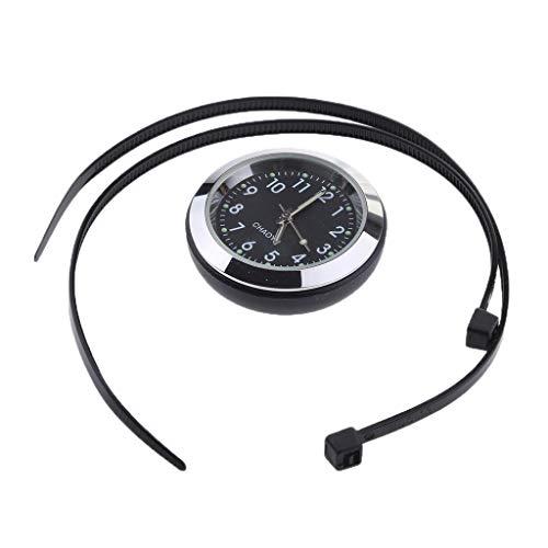 B Blesiya Moto Manillar Dial Reloj Temp Termómetro Higrómetro Manómetro - Reloj - Negro