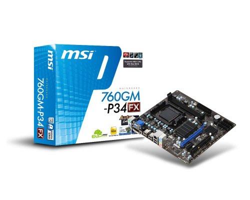 MSI Socket AM3+/ AMD 760G/ DDR3/ Hybrid CrossFireX/ A and GbE/...