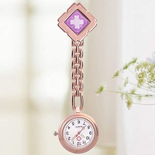 WTFYSYN Mujer Niña Reloj Médico,Enfermera médica Mesa Luminosa, Estudiante Reloj de Bolsillo...