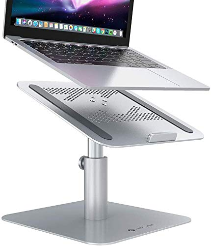 Laptop Stand , NOVOO 360° Rotating, Tilting, Height Adjustable MacBook Stand, Ergonomic Ventilated Adjustable Laptop Riser, Holder Universal for MacBook Pro, Air, Dell, Lenovo etc.