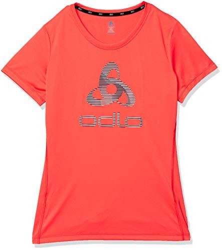 Odlo T-Shirt pour Femme Element Light Crew Neck XXL Corail Vif - imprimé SS20