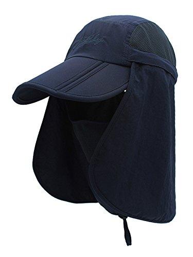 WANYING Unisexo Safari Cap Protector Cuello Anti UV