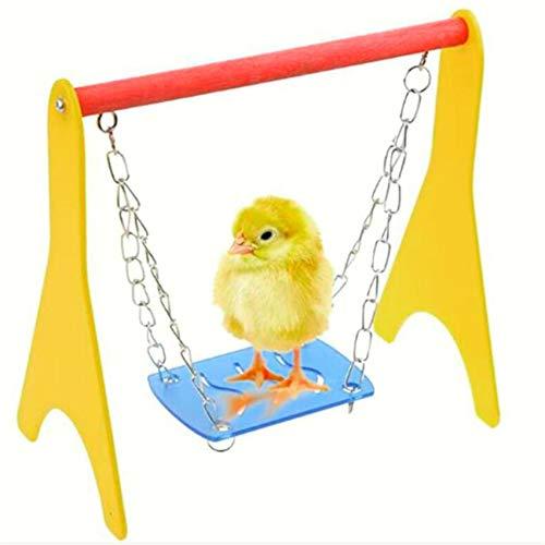 LPOQW Hamster Toy Chain Swing Springboard Juguetes para jaula de pájaros divertido ratón hámster Swing juguete Swing Swing Gadget Suministros