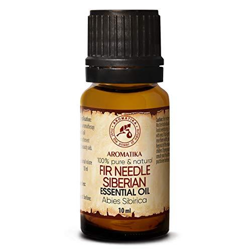 Aceite Esencial Siberiano de Abeto 10ml - Abies Sibirica - 100% Puro y Natural - Utilizado para Aliviar el Estrés - Calmar - Sauna - Fragancias para el Hogar - Aroma Fresco