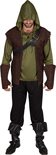 Capital Costumes Men's Authentic Robin Hood Costume, Large, Forest Green