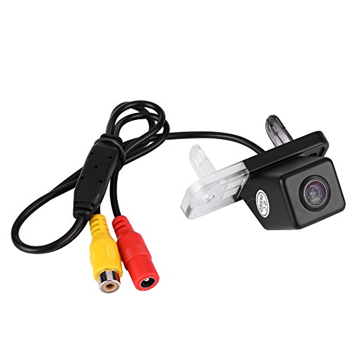 Qiilu 170° Auto Rückfahrkamera Set, Kabellose Einparkhilfsystem IP68 Wasserdicht Super Nachtsicht Rückfahrkamera für C-Klasse E CLK W203 W211 W219