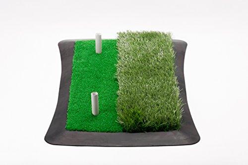 Golf Abschlagmatte (60 cm x 30 cm) / inkl. Gummi-Tees/Verschiedene Grashöhen