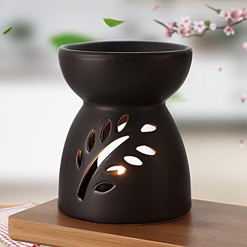 Quemador de Aceites Esenciales de Cerámica, Quemador Esencias Aromaterapia Ceramica + Cuchara Velas...