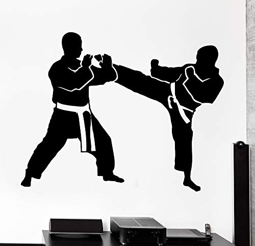 Preisvergleich Produktbild zzlfn3lv Wall Stcker Sport Karate Taekwondo Kampf Vinyl Aufkleber 1 57x72cm