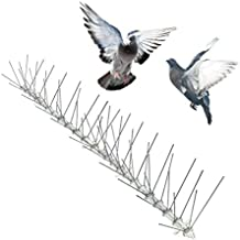 Bird-X STS-24 Width 6-inch Metal Roof Guard Stainless Steel Bird Spikes, Covers 24 feet, Multi