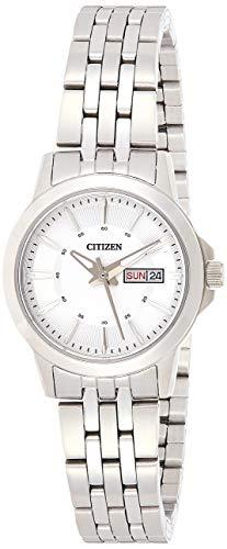CITIZEN Damen Analog Quarz Uhr mit Edelstahl Armband EQ0601-54AE