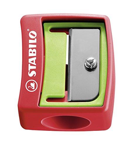 Spitzer - STABILO woody 3 in 1 Spitzer - für extradicke Stifte - 12er Pack - rot/grün