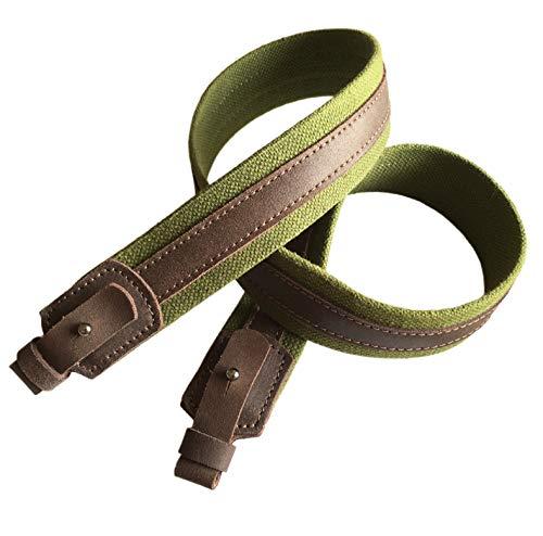 Ganwear® Grün Segeltuch Leder Wide Gewehr Schlinge Schrotflinte Luftgewehr Gurt Jagdschießen