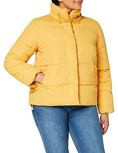 TOM TAILOR Denim Damen Puffer Stehkragenjacke Jacke, 10410-Indienn Spice Yellow, M
