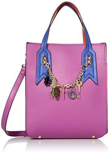 Betsey Johnson Damen Mixed Media Small Shopper Tragetasche, magenta, Einheitsgröße