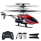 RC Helicopters, 2.4G Remote Control Helicopter with 4 Channel, Flying Toys for Boys with Altitude Hold, LED Lights, 2 Speed Modes, Airplane Toys Indoor/Outdoor for Kids and Adults (Red)