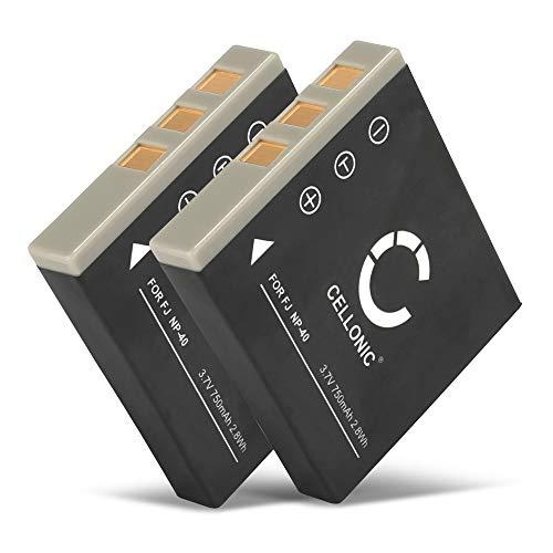 CELLONIC 2X Batería Premium Compatible con Fujifilm Finepix Z1 Z2 Z3 F650 V10 F710 F480 F700 F460 J50 F470 F610 F455 F402 (750mAh) NP-40 bateria de Repuesto, Pila reemplazo, sustitución