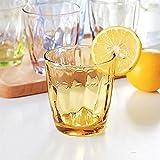 Tazza di vetro 6 pz 310ml colorato tazze resistenti alla rottura acrilico bicchieri da bere bicchieri infrangibili bicchieri incrostatibili bicchieri di bevanda vino riciclato DAKSL