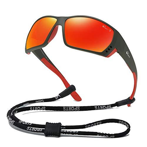 Bevi Polarized Sports Sunglasses for Men Square TR 90 Frame Glasses Flexible and Durable Sun Glasses 2701C1