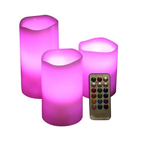 Kaars zonder vlam, afstandsbediening door LED voor paraffinekaars, 3 maten.