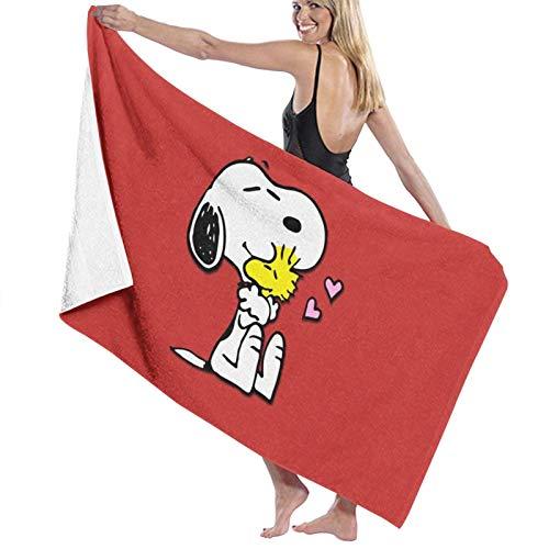 U/K Toalla de baño Snoopy Love de secado rápido