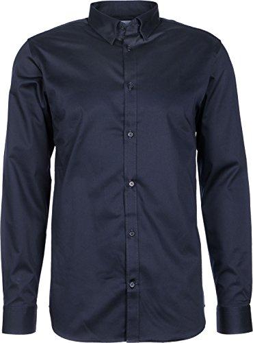 SELECTED FEMME Selected Herren Freizeithemd SHDONE-TRAVISBELFAST SHIRT LS NOOS, Größe:XS;Farbe:Navy Blazer (16048301)