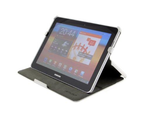 StilGut UltraSlim Hülle, Tasche mit Stand- & Präsentationsfunktion für Samsung Galaxy Tab 7.7, weiß
