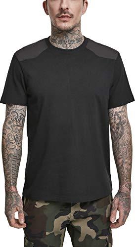 Urban Classics Herren Military Tee T-Shirt, Schwarz (Black 00007), Medium (Herstellergröße: M)