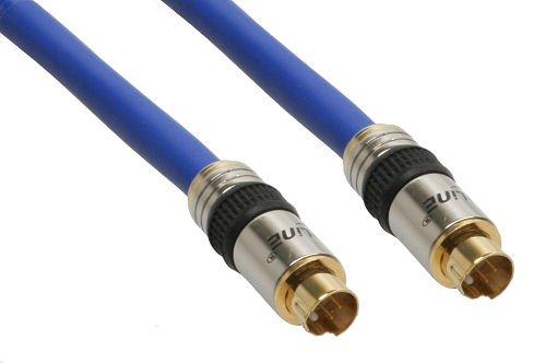 InLine 89954P S-VHS Kabel, PREMIUM, vergoldete Stecker, 4pol mini DIN Stecker / Stecker, 10m