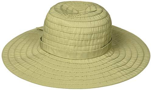 Scala Chapéu feminino costurado com fita trituradora, Sage, One Size