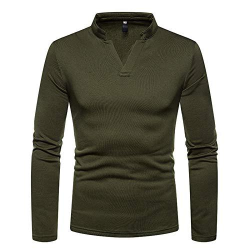 Mr.BaoLong&Miss.GO Otoño E Invierno, Camiseta De Manga Larga para Hombre, Suéter para Hombre, Tamaño Europeo, Camisa para Hombre, Camisa Poio, Camisa Casual, Camisa para Hombre