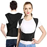 Sportout Back Brace, Four Support Bars Posture Corrector, Adjustable Shoulder Posture Support, Back Lumbar Support to Improve Posture and Relieve Back Pain for Women Men.(M)