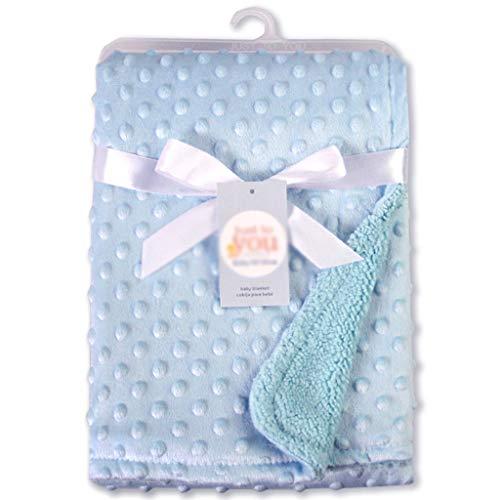 SMEJS Manta para bebés y swaddling Recién Nacido Térmico Suave Fleece Soft Winter Solid Ropa de Cama Conjunto Edredón de algodón Ropa de Cama Infantil Swaddle Wrap (Color : D)