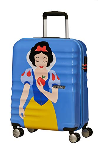 American Tourister Wavebreaker Disney Deluxe - Spinner S Equipaje de Mano, 55 cm, 36 L, Azul (Snow White)